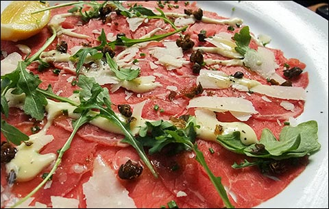 Beef Carpaccio With Orange-Olive Salsa And Shaved Cheese Recipes ...