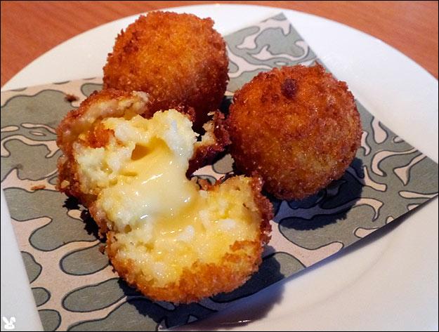 Cheddar Scallion Polenta Croquettes Recipe — Dishmaps